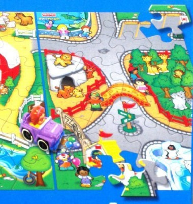 Fisher-Price People World Of Wheelies Activity Floor Puzzle Zoo Big s Fun Game By Fisher Price(24 Pieces)  available at flipkart for Rs.5399