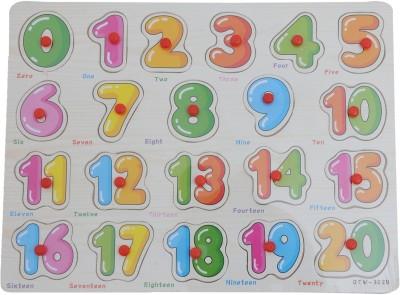 Happy Kidz WOODEN NUMERICAL PUZZLE 21 Pieces