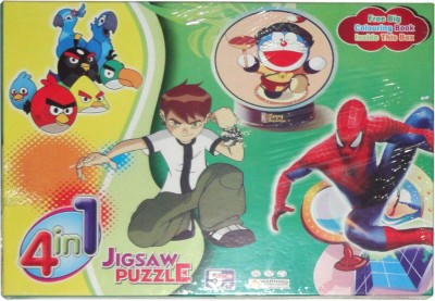Angry Birds 4 in 1 Jigsaw(48 Pieces)