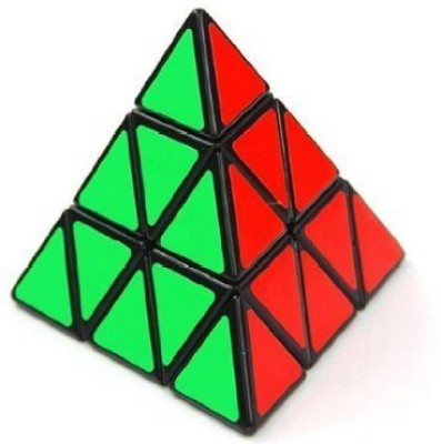 Shengshou Triangle Pyramid Pyraminx Speed Magic Cube Puzzle Twist Toy Game Education Black(1 Pieces)  available at flipkart for Rs.2541