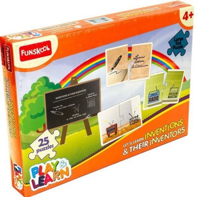 Funskool Let'S Learn Inventions & Their Inventors(25 Pieces)