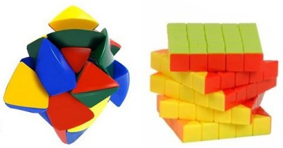 Mayatra's Shengshou Master Pyramorphix & Stickerless 5x5 Rubik Speed Cube - Combo (2 Pieces)(2 Pieces)  available at flipkart for Rs.799