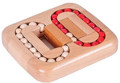 SODIAL Classic Wooden Brain Teaser Slide Escape Maze Puzzle Board Game Educational Toy for Kids and Adults R