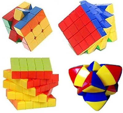 Mayatra's Combo OF Pyramid 3x3, 4x4 & 5x5 Stickerless Cube Magic Rubik Puzzle With A Free Cube Bag (4Pcs) (4 Pieces)(4 Pieces)  available at flipkart for Rs.1299