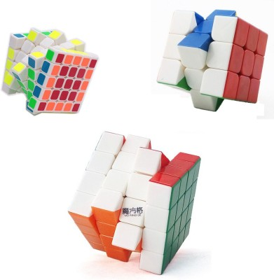 Emob Magic Rubik Cube Puzzle Brainstorming Game (3x3 + 4x4 & 5x5)(3 Pieces)  available at flipkart for Rs.699