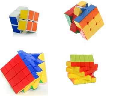 Montez Magic Rubik Cube Puzzle Brainstorming Game [ Shengshou2x2 + 3x3+4x4 & 5x5 ] set of 4(4 Pieces)  available at flipkart for Rs.1099