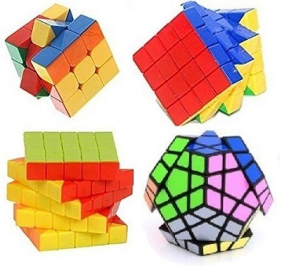 Mayatra's Shengshou Megaminx, Stickerless 3x3, 4x4 & 5x5 Cube Magic Rubik Puzzle With A Free Cube Bag (4 Cubes)(4 Pieces)  available at flipkart for Rs.1799