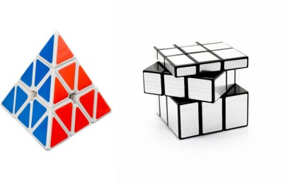 Montez Shengshou Sliver Mirror Cube & Pyraminx Speed white -set of 2(2 Pieces)  available at flipkart for Rs.449