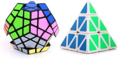 Mayatra's Combo Of Shengshou Megaminx Black Speed Cube & Pyraminx Triangle Pyramid Magic Cube Puzzle(10 Pieces)  available at flipkart for Rs.899