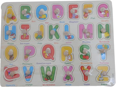 Happy Kidz ALPHABET WOODEN PUZZLE 26 Pieces Happy Kidz Puzzles