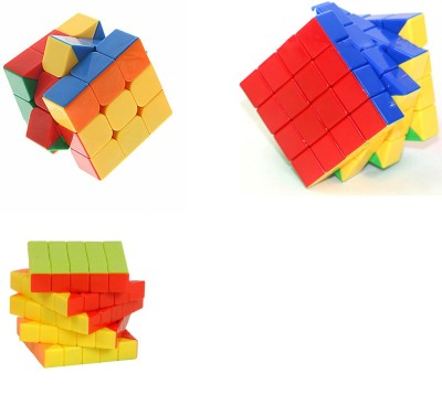 Montez Magic Rubik Stickerless Cube Puzzle [3x3 + 4x4 & 5x5] set of 3(3 Pieces)  available at flipkart for Rs.849