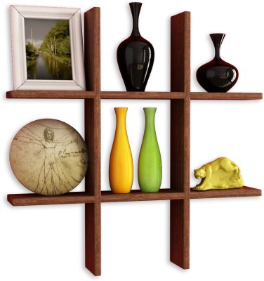 Home Sparkle Wooden Wall Shelf(Number of Shelves - 1, Brown)