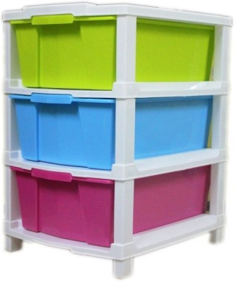 Aristo Houseware Plastic Wall Shelf(Number of Shelves - 3, Multicolor) at flipkart