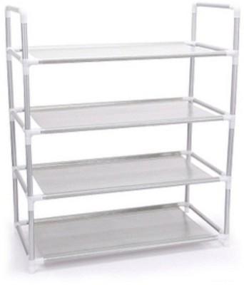 EI Iron, Nylon Wall Shelf(Number of Shelves - 4, Silver)