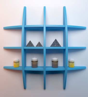 Decorhand Wooden Wall Shelf(Number of Shelves - 1, Blue) at flipkart