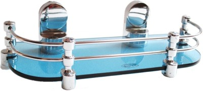 RoyaL Indian Craft Queen Bracket Royal BLUE Glass 12 By 5 Inch Glass Wall Shelf(Number of Shelves - 1, Blue) at flipkart