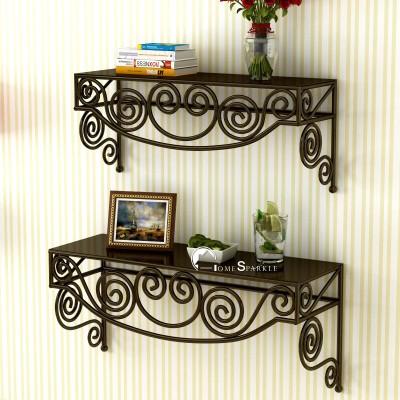 Artesia Wooden Wall Shelf(Number of Shelves - 2, Brown)