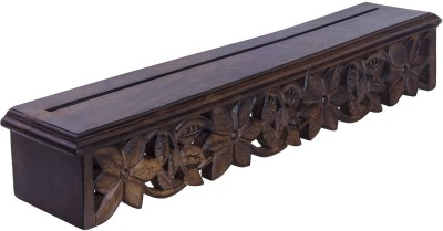 Decorhand Wooden Wall Shelf(Number of Shelves - 1, Brown) at flipkart