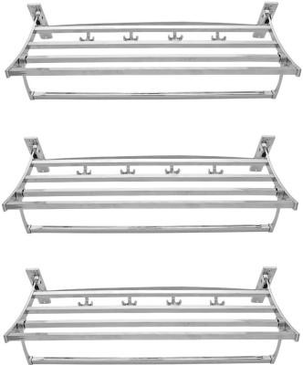 AAI Stainless Steel Wall Shelf(Number of Shelves - 3, Silver) at flipkart