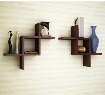 Artesia Wooden Wall Shelf(Number of Shelves - 2, Brown) at flipkart