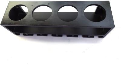 Woodpedlar Wine Rack MDF (Medium Density Fiber) Wall Shelf(Number of Shelves - 1, Black)