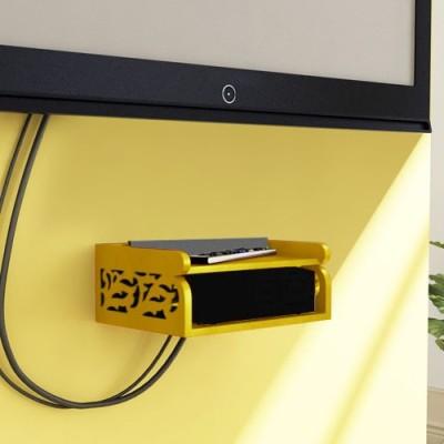 Decorhand Wooden Wall Shelf(Number of Shelves - 1, Yellow) at flipkart