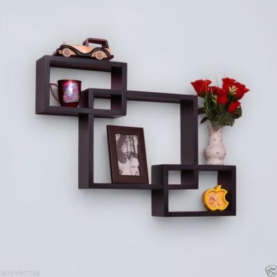 Decorhand Wooden Wall Shelf(Number of Shelves - 3, Black) at flipkart