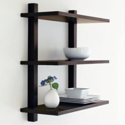 Onlineshoppee Wooden Wall Shelf(Number of Shelves - 3, Brown)