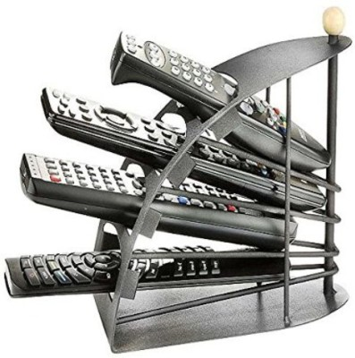 Inventure Retail Iron Metal Remote Organizer Holder Stand Cast Iron Wall Shelf(Number of Shelves - 4, Black)  available at flipkart for Rs.399