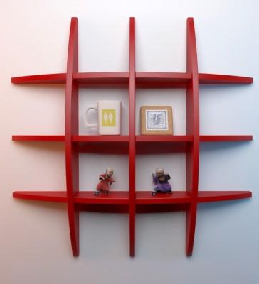 Decorhand Wooden Wall Shelf(Number of Shelves - 1, Red) at flipkart