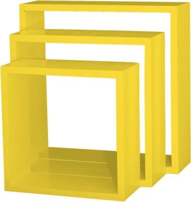 Custom Decor Nesting Wooden Wall Shelf(Number of Shelves - 3, Yellow)