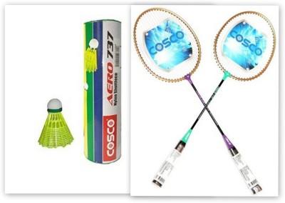 Cosco CB 120 and Aero 737 Nylon Shuttle Cock Badminton Kit