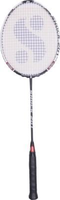 Silver's Shock 201 Silver, Black Strung Badminton Racquet(G3 - 3.5 Inches)