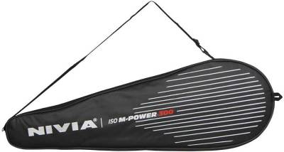 Nivia M-Power 300 G4 Badminton Racquet (Black, Yellow, Weight - 100 g)