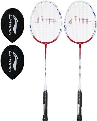 Li-Ning Smash XP-809 (Pack of 2) Red, White Strung Badminton Racquet(G4 -3.25 Inches, 88 g) Flipkart
