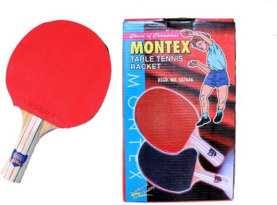 Montex Ascot Red, Black Table Tennis Racquet(NA, Weight - 200 g)  available at flipkart for Rs.168