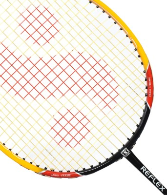 Silver's Reflex Black, Yellow, White Strung Badminton Racquet(G3 - 3.5 Inches)