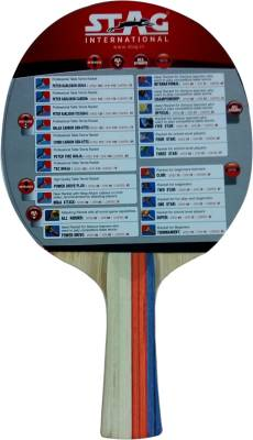 Stag Super Control Table Tennis Racquet (Blue, Red, Weight - 174 g)