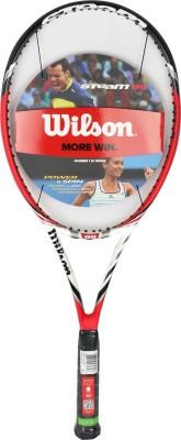 Wilson Steam 99 TNS Red, Black, White Strung Tennis Racquet(350 g)