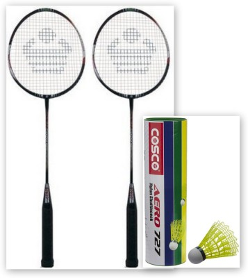 Cosco CBX 410 and Aero 727 Nylon Shuttle Cock Badminton Kit
