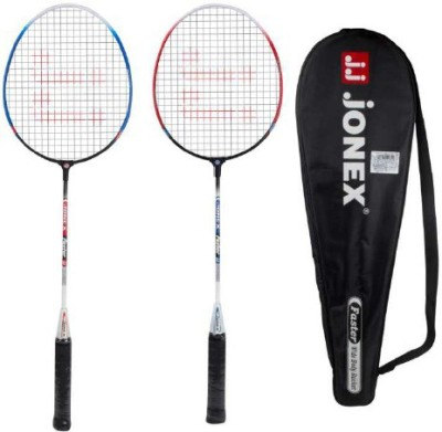 JJ Jonex BADMINTON SET OF 2 FASTER Multicolor Strung Badminton Racquet Pack of: 2, 220 g JJ Jonex Badminton Racquet