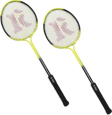 roxon JR POLO DOUBLE SHAFT BADMINTON SET Multicolor Unstrung Badminton Racquet Pack of: 2, 180 g
