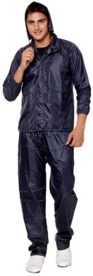 Bs Spy 3 Piece Rainsuit With Cap And Cover Solid Men's Raincoat at flipkart