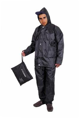 Black Urbanlifestylers Complete Rain Suit With Carry Bag Raincoat