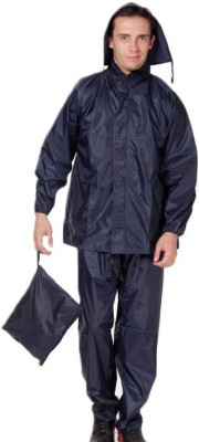 Monsuun Navy Rainsuit Solid Men Raincoat