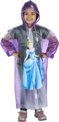 HighLands Graphic Print Girls Raincoat