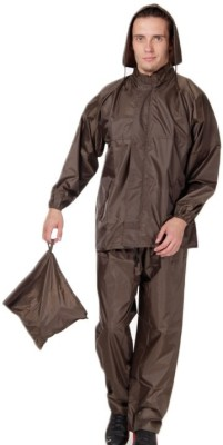Bs Spy Rainsuit With Cap And Cover Solid Men's Raincoat at flipkart