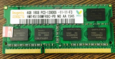 Hynix ddr3 DDR3 4 GB (Single Channel) Laptop SDRAM (H15201504-25)