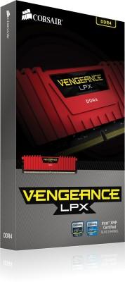 Corsair Vengeance DDR4 4 GB (Single Channel) PC DRAM (CMK4GX4M1A2400C16R)(Red)