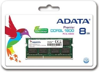 Adata DDR3L 1600 LOW VOLTAGE DDR3 8 GB (Dual Channel) Laptop SDRAM (ADDS1600W8G11-B)(Green)
